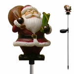 Solar Santa Holiday Stake