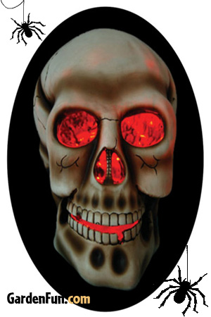 Solar Skull Decor Halloween Lawn Ornament - Click to enlarge