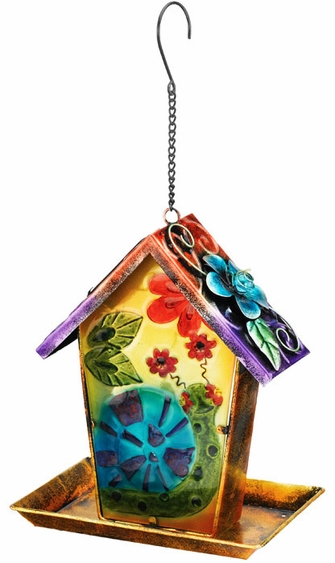 Solar Snail Lantern Bird Feeder - Click to enlarge