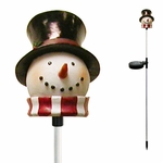 Solar Snowman Holiday Stake