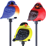 Solar Songbirds Garden Stakes (Set of 3)