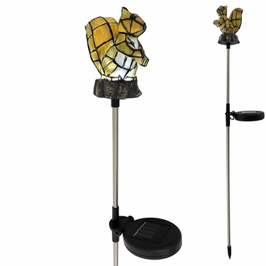 Solar Squirrel Light Garden Stake - Click to enlarge