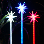 Solar Star Motion LED Stakes (Set of 3)