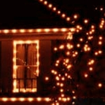 Solar String Lights - 100 LED Orange