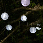 Solar String Lights - Mini White Lanterns