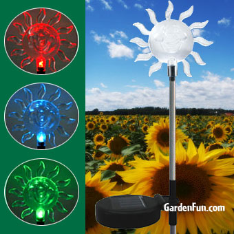 Solar Sun Garden Stake - Click to enlarge