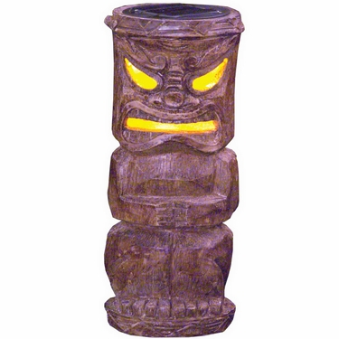 Solar Tiki Statue - Classic Bamboo Makaha - Click to enlarge