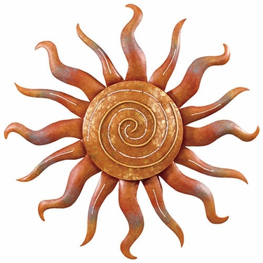 Spiral Sun Wall Decor - Click to enlarge