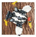 Splats Woodpecker Bird Tree/Wall Art
