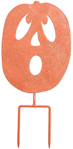 Spooked Pumpkin Stake / Sign (Set of 4) - Click to enlarge