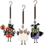 Spooky Halloween Owl Bouncies (Set of 3)