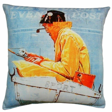 Sport Fishing Outdoor Pillow - Click to enlarge