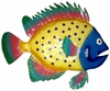 Spotted Blue Fish Wall Decor