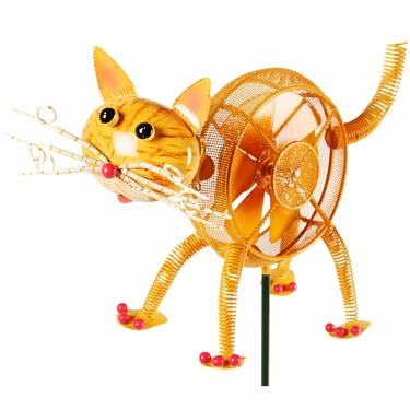 Springee Spinners Cat Garden Stake - Click to enlarge