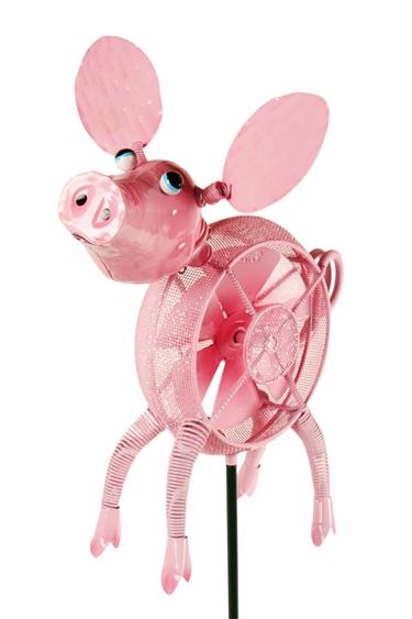 Springee Spinners Pig Garden Stake - Click to enlarge