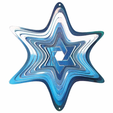 Star of David Wind Spinner - Click to enlarge