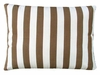 Striped Chocolate Outdoor Pillow