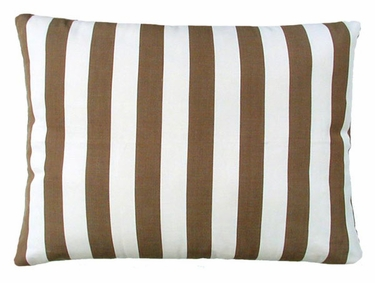 Striped Chocolate Outdoor Pillow - Click to enlarge
