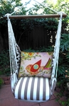 Striped Chocolate Bird Heartstrings Hammock Chair Swing Set