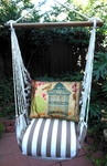 Striped Chocolate Prism Garden Hammock Chair Swing Set