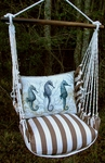 Striped Chocolate Seahorses Hammock Chair Swing Set