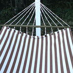 Striped Chocolate Sundure Fabric Hammock