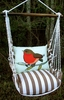 Striped Chocolate Wee Robin Hammock Chair Swing Set