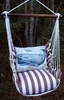 Striped Chocolate Whale Hammock Chair Swing Set