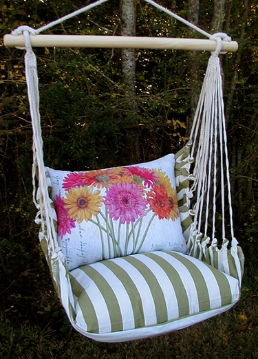 Summer Palms Gerberas Hammock Chair Swing Set - Click to enlarge