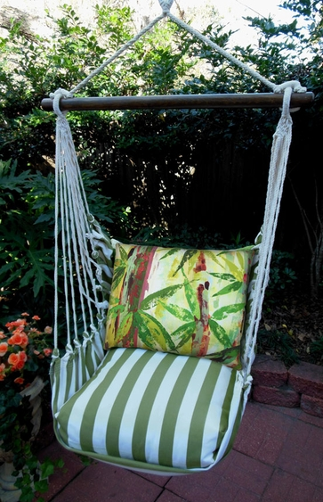 Summer Palms Bamboo Hammock Chair Swing Set - Click to enlarge