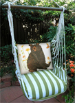 Summer Palms Brown Bear Hammock Chair Swing Set