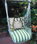 Summer Palms Chubby Owl Hammock Chair Swing Set