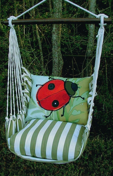 Summer Palms Ladybug Hammock Chair Swing Set - Click to enlarge