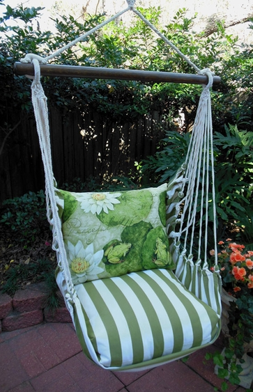 Summer Palms Lilypads Hammock Chair Swing Set - Click to enlarge
