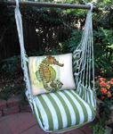Summer Palms Seahorse in Marsh Hammock Chair Swing Set