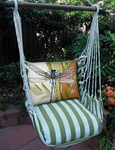 Summer Palms Stripe Hammock Chairs
