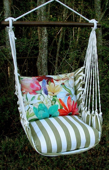 Summer Palms Tropical 2 Hammock Chair Swing Set - Click to enlarge