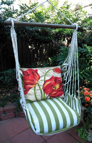 Summer Palms Tulips Hammock Chair Swing Set - Click to enlarge