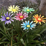 Sunflower Garden Stakes / Wall Flower Decor (6-Pack)