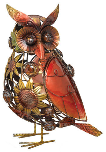 Sunflower Glass Owl Decor - Click to enlarge