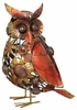 Sunflower Glass Owl Decor