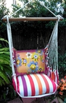 Sweet Painterly Flowers Hammock Chair Swing Set