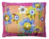 Sweet Painterly Flowers Outdoor Pillow