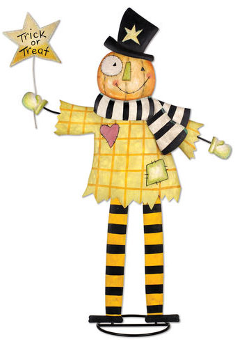 Sweet Treat Pumpkin Scarecrow - Click to enlarge
