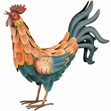 Teal Decorative Rooster - Click to enlarge