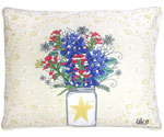 Texas Bluebonnets Outdoor Pillow