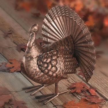 Thanksgiving Metal Turkey - Click to enlarge