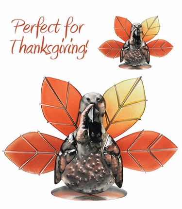 Thanksgiving Turkey Candle Holders (Set of 2) - Click to enlarge