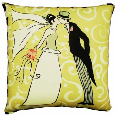 The Kiss Outdoor Pillow - Click to enlarge
