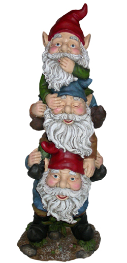 Three Gnomes Statuary - Click to enlarge
